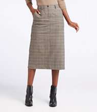 Weekend Mid-Length Skirt, Plaid