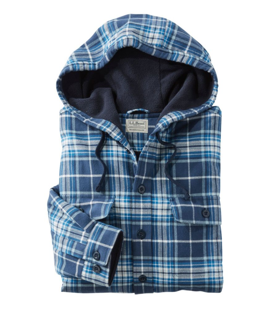 1e02831d1 Men's Fleece-Lined Flannel Hoodie at L.L.Bean
