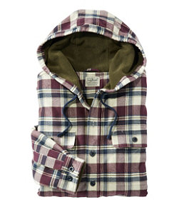Men's Fleece-Lined Flannel Shirt, Traditional Fit Hooded