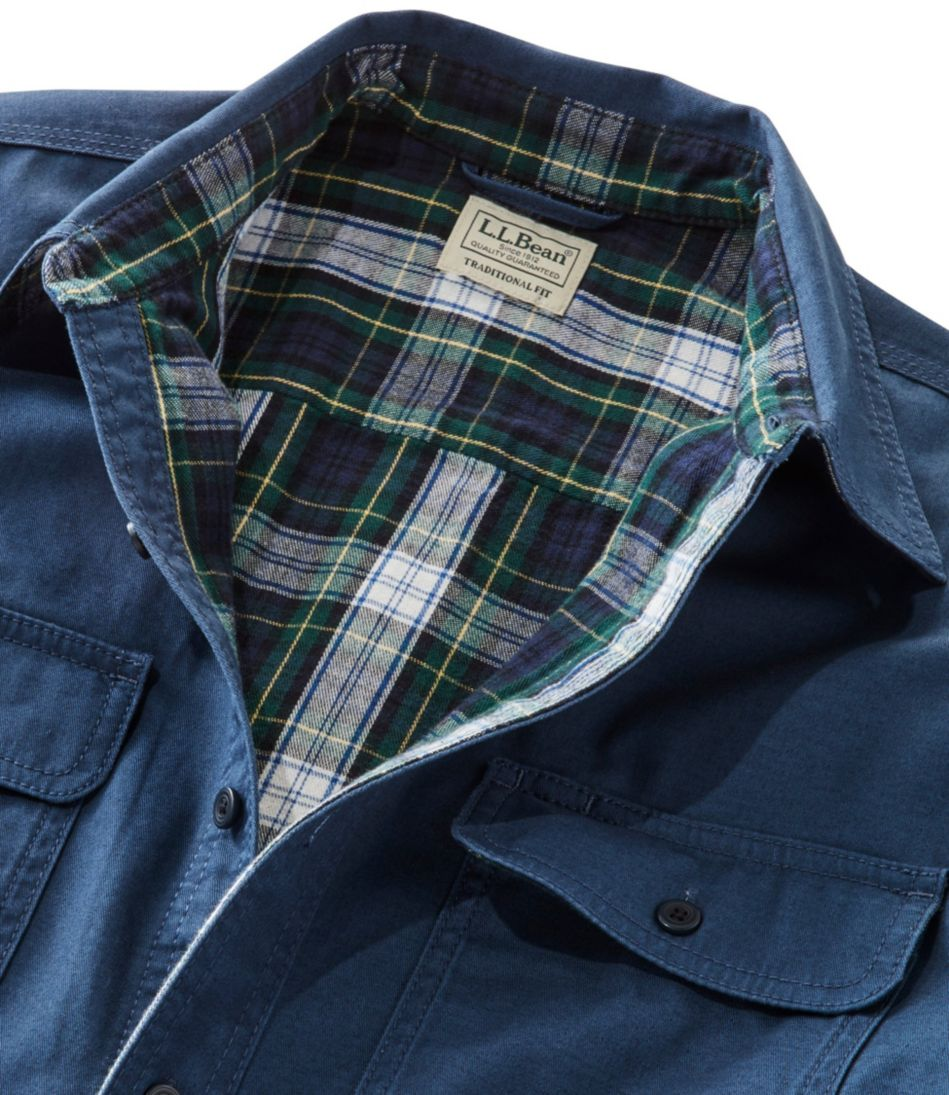 Flannel-Lined Hurricane Shirt