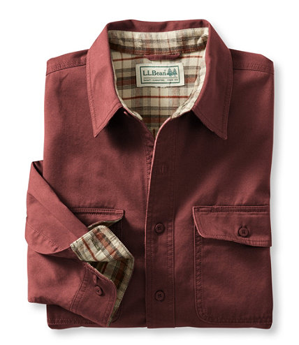 Flannel Lined Hurricane Shirt Free Shipping At L L Bean