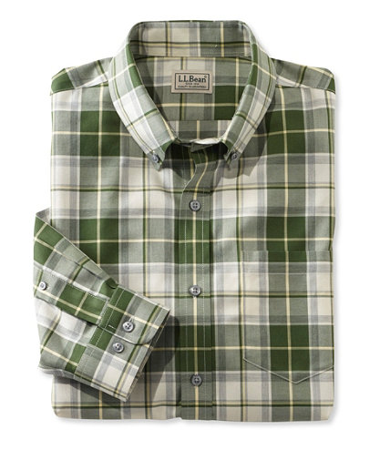 Men 39 s wrinkle free heathered sport shirt slightly fitted for Ll bean wrinkle resistant shirts