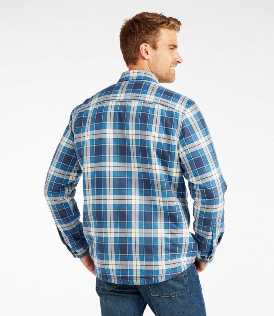PrimaLoft-Lined Shirt-Jac, Slightly Fitted Plaid