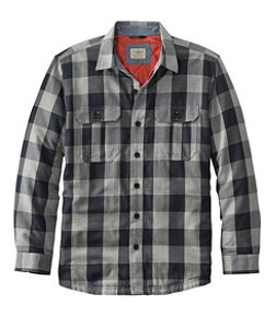 Men's PrimaLoft-Lined Shirt Jac Slightly Fitted Plaid