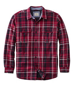 Men's PrimaLoft-Lined Shirt-Jac Slightly Fitted Plaid