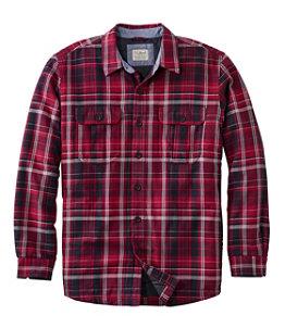 Men's PrimaLoft-Lined Shirt Jac Slightly Fitted Plaid