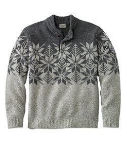 Men's L.L.Bean Classic Ragg Wool Fair Isle Henley Sweater