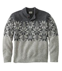 Men's L.L.Bean Classic Ragg Wool Fair Isle Henley Sweater