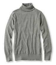 Cotton/Cashmere Sweater Turtleneck Stripe