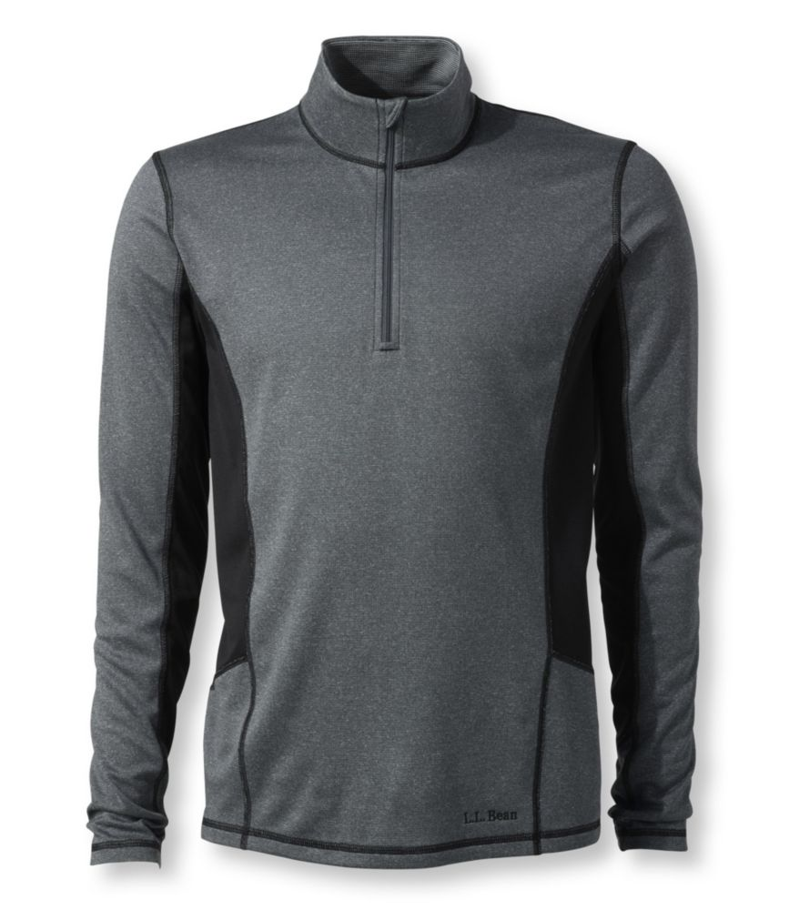 photo: L.L.Bean Men's Powerwool T-Zip Base Layer