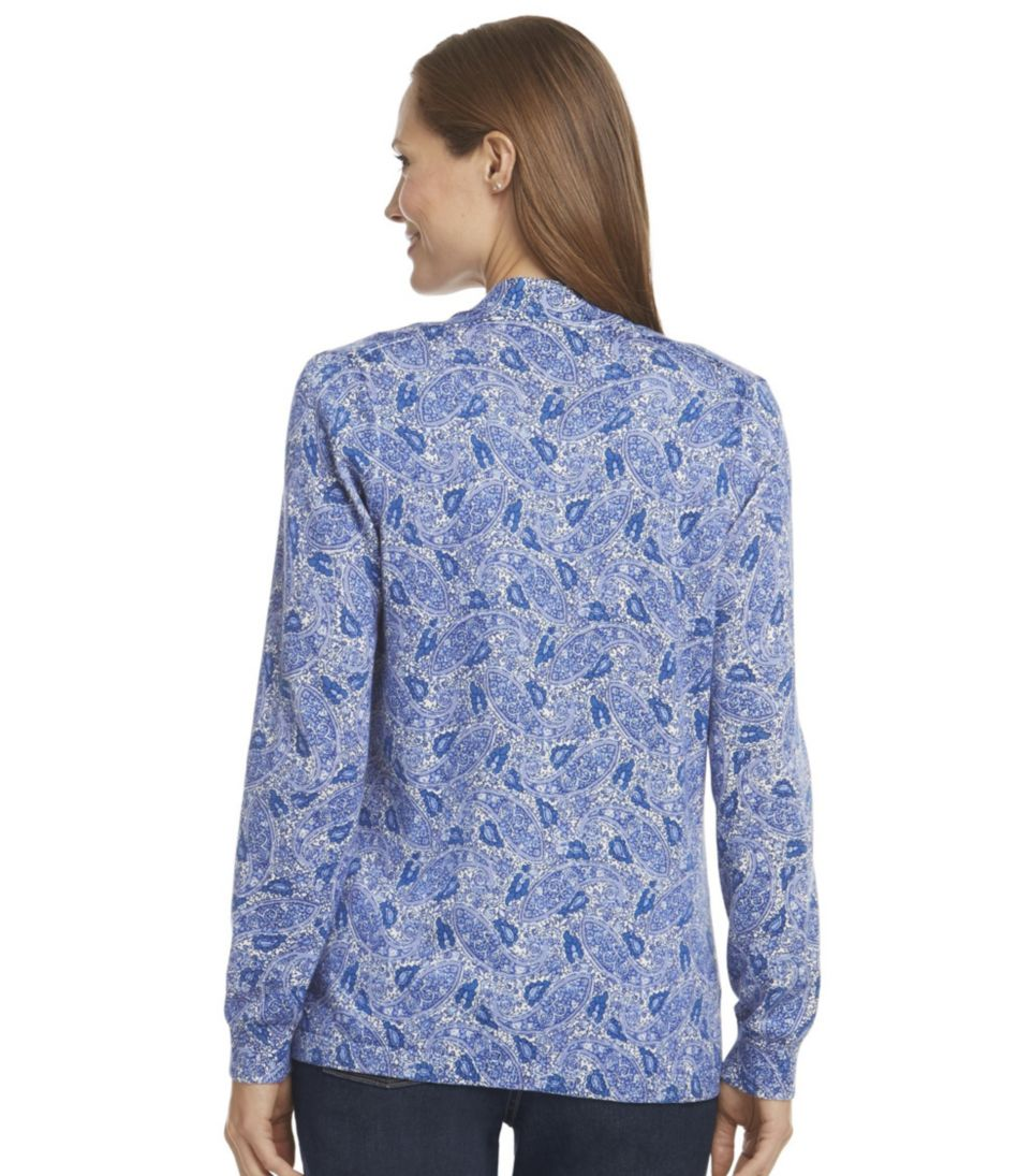 Premium Supima Cotton Sweater, Open Cardigan Paisley