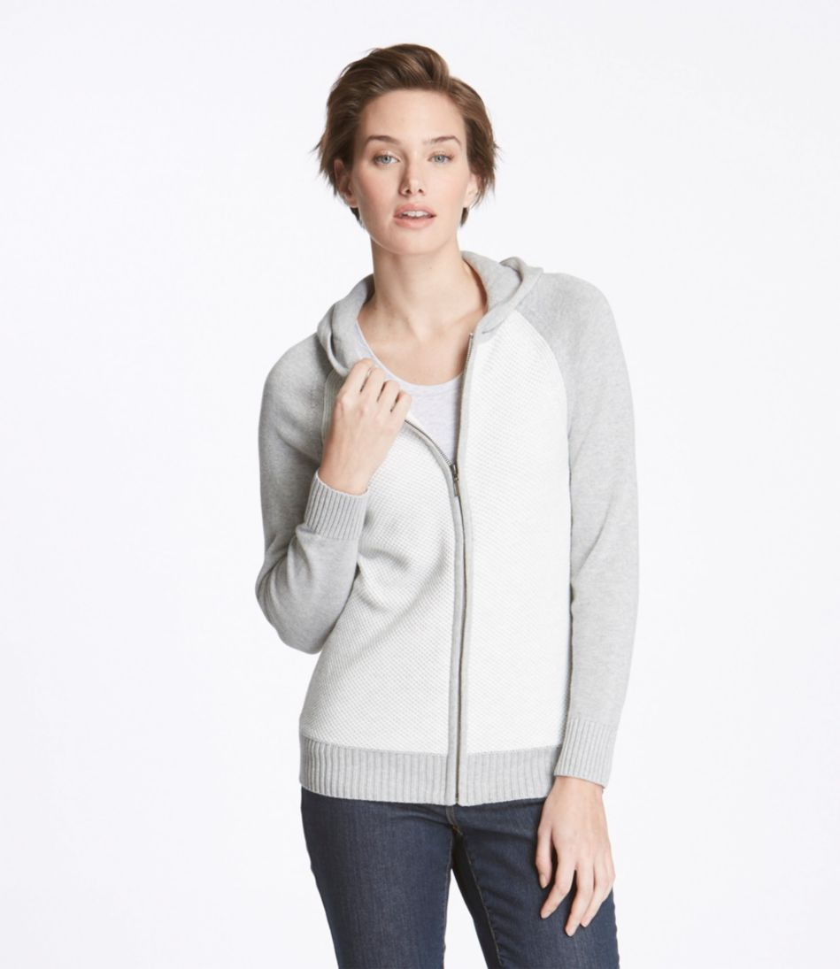 Honeycomb-Stitch Sweater, Colorblock Hoodie