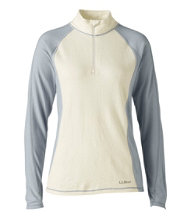 Cresta Wool Midweight Base Layer, T-Zip Two-Tone