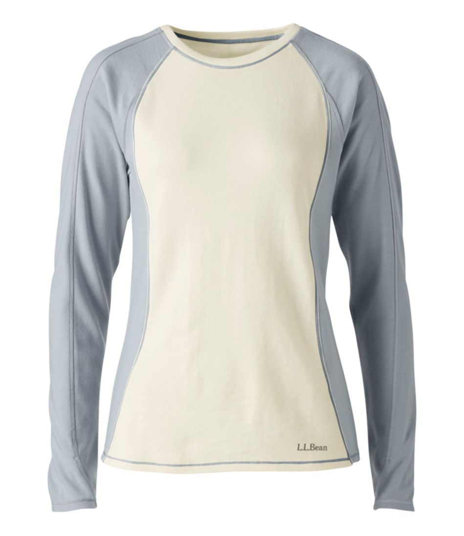 Cresta Wool Midweight Base Layer, Crew Two-Tone