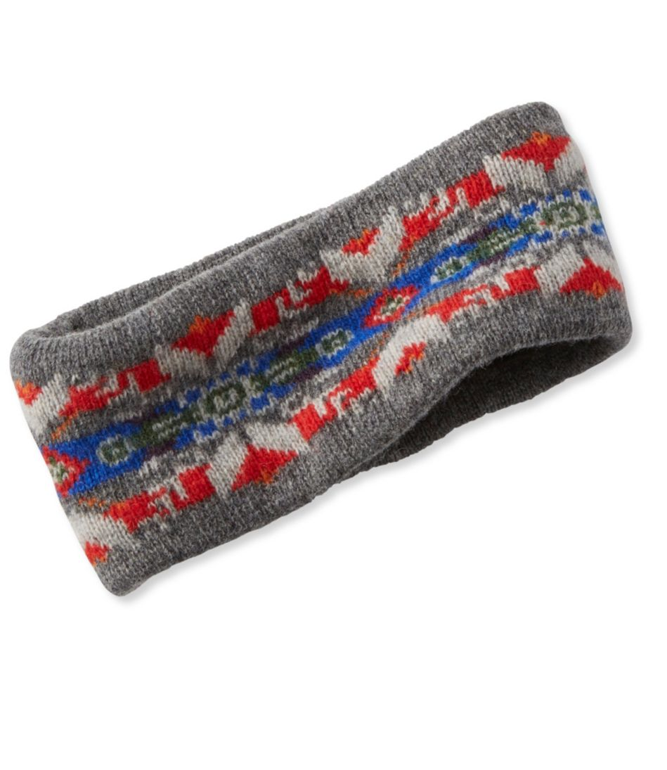 Women's Winter Knit Headband, Fair Isle