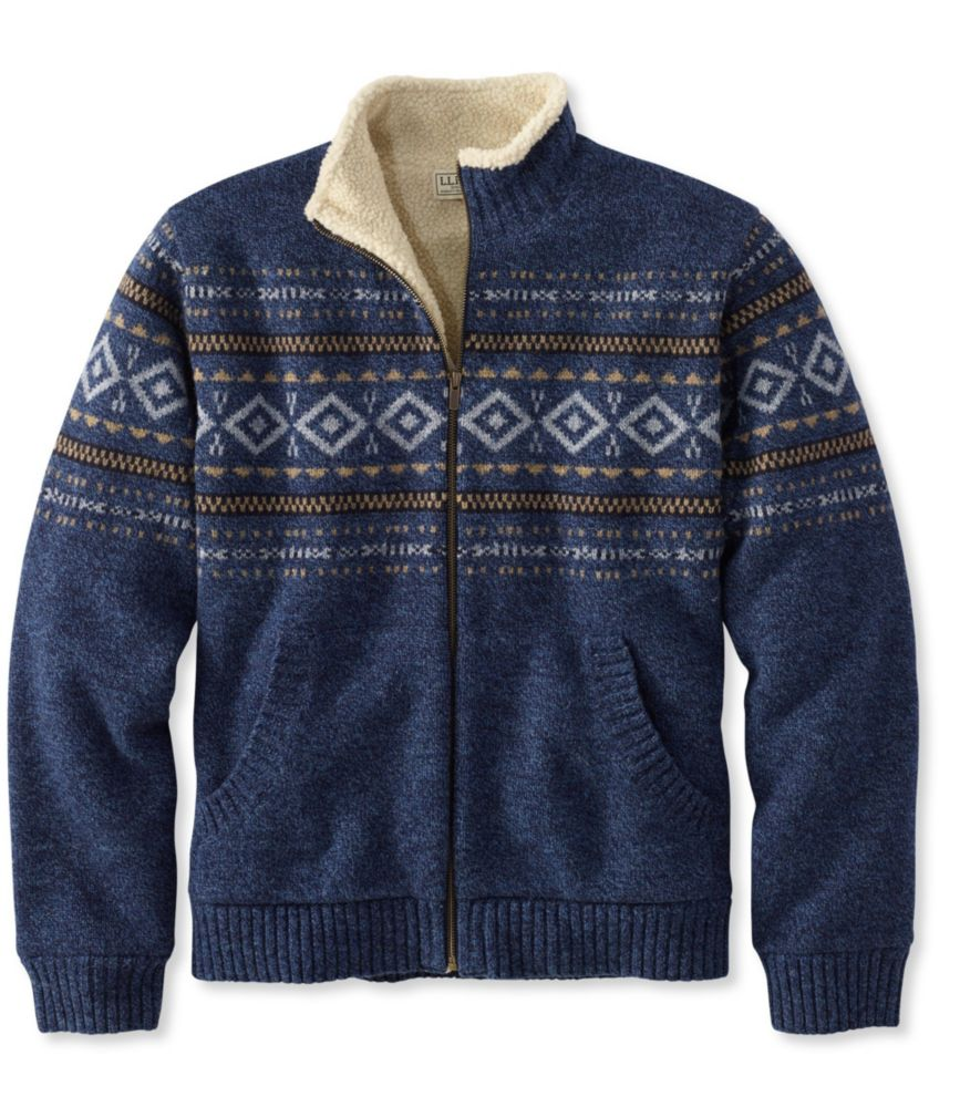 L.L.Bean Sherpa Fleece-Lined Sweater, Full Zip