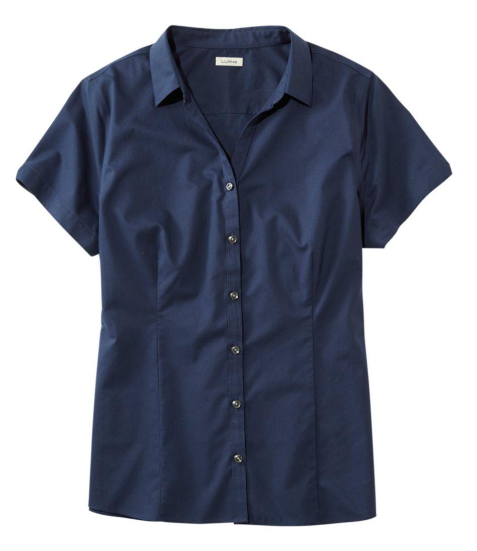 L.L.Bean Wrinkle-Free Poplin Shirt, Short-Sleeve