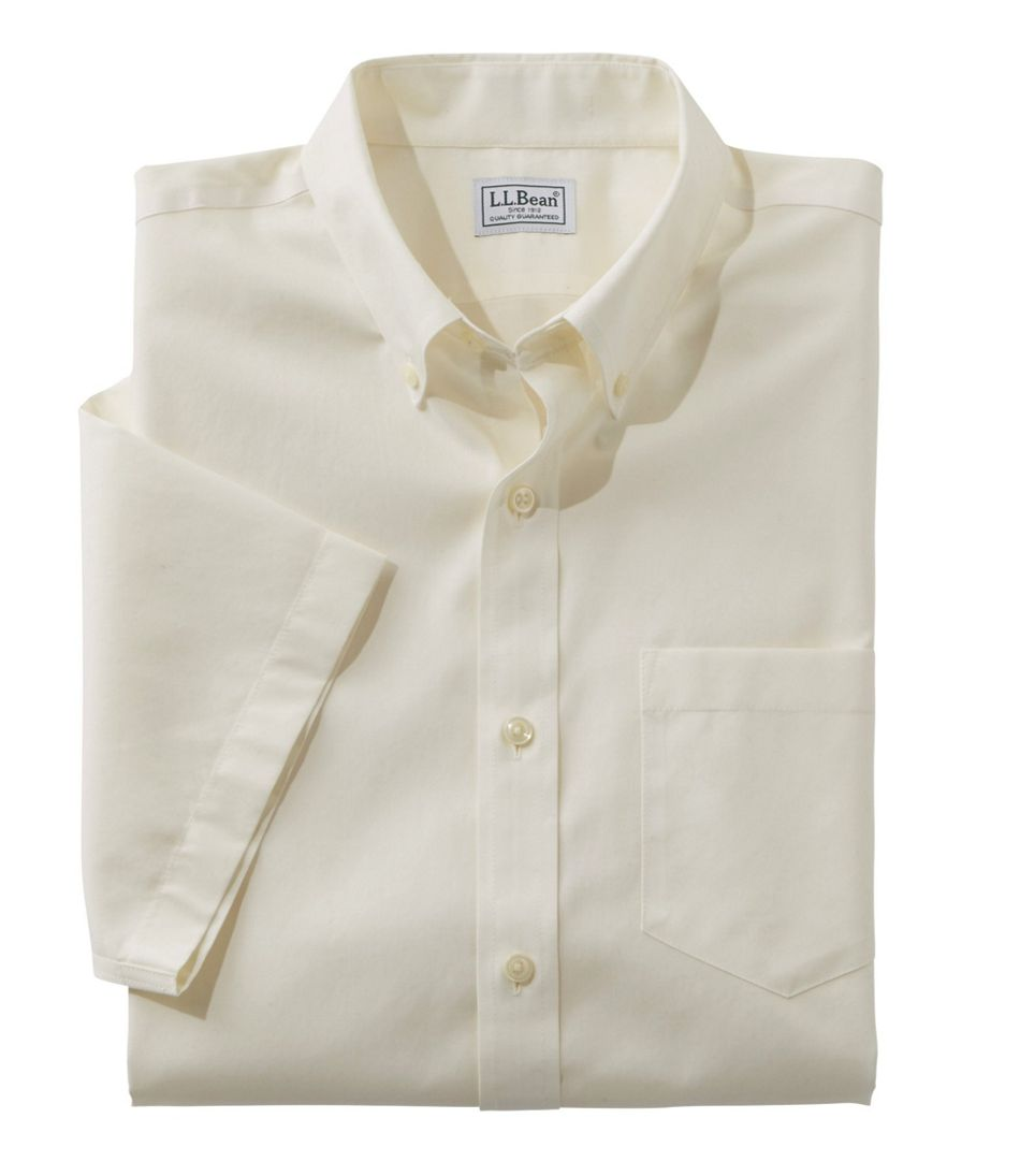 L.L.Bean Wrinkle-Free Poplin Shirt, Short-Sleeve