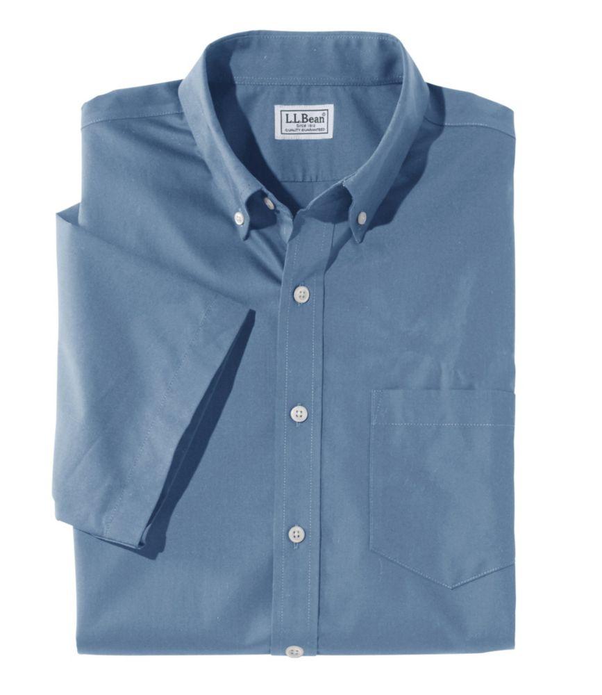 Wrinkle-Free Poplin Shirt, Short-Sleeve