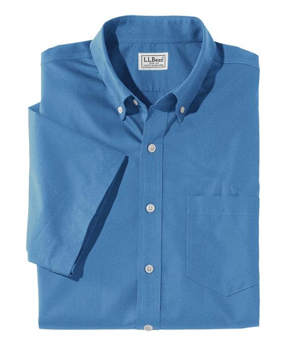 Wrinkle-Free Poplin Shirt, Short-Sleeve, , large image number 0