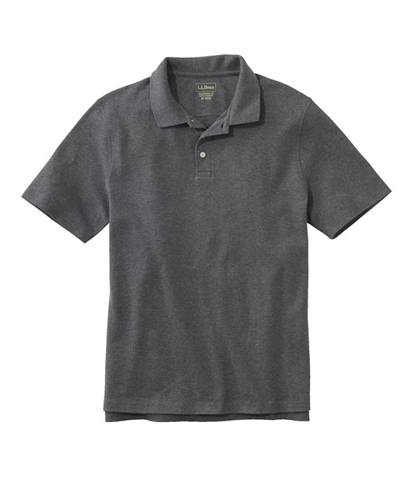 Men's Bean's Interlock Polo, Charcoal Heather, largeimage number 0