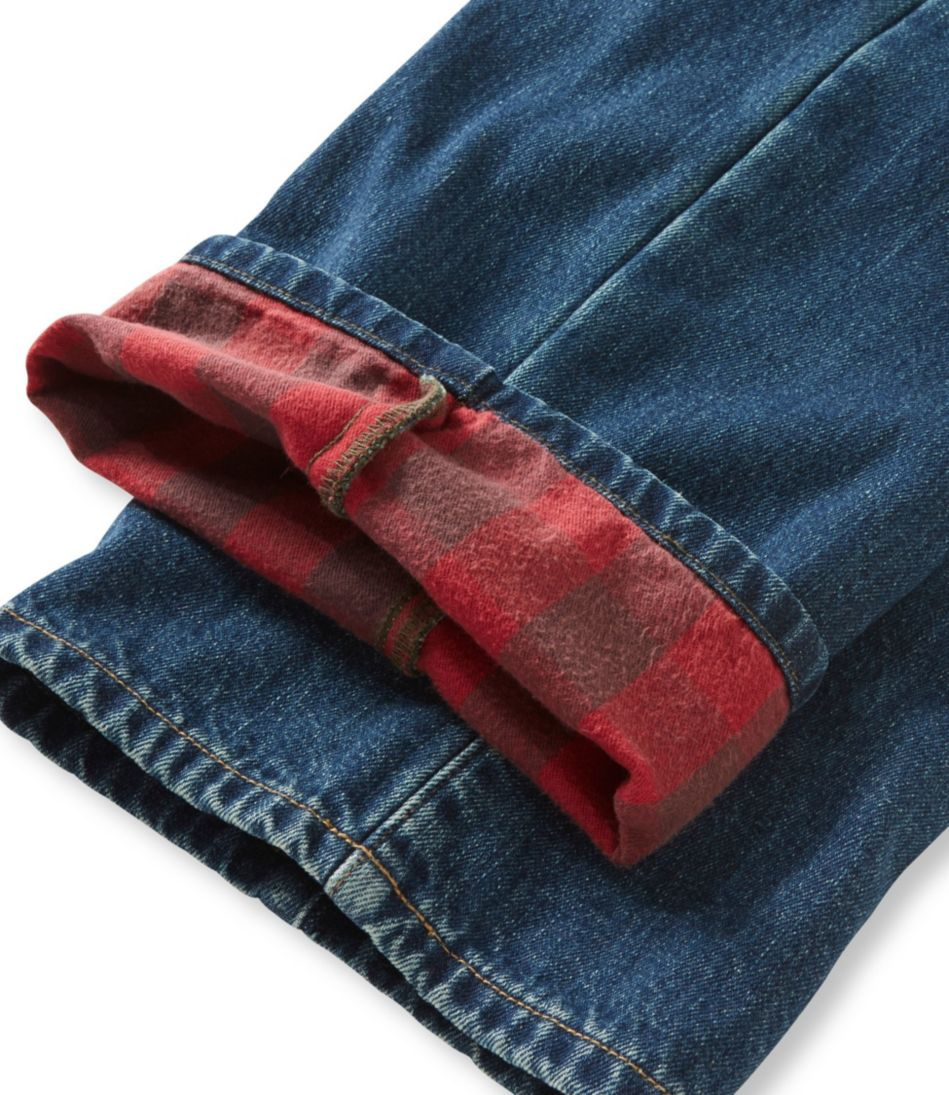 Men's L.L.Bean 1912 Jeans, Standard Fit Flannel-Lined