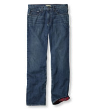 Men's L.L.Bean 1912 Jeans, Standard Fit Flannel-Lined