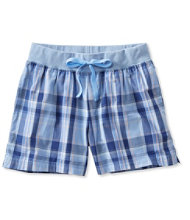 Cotton Poplin Sleep Shorts