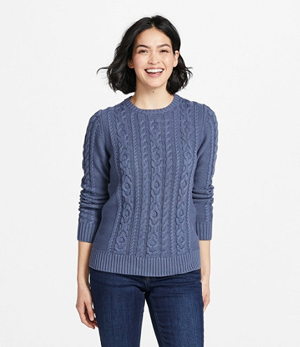 a4181f20eec Double L Mixed-Cable Sweater