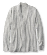 Premium Supima Cotton Sweater, Textured Open Cardigan