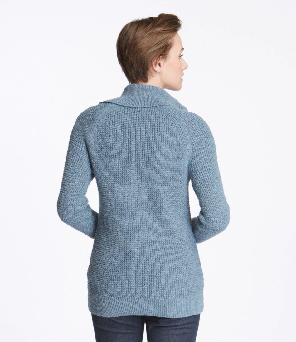 Cotton Waffle Sweater, Cardigan