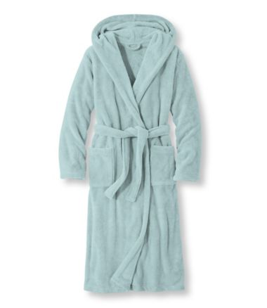 Plush Fleece Hooded Robe