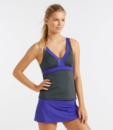 L.L.Bean Active Swim Collection, V-Neck Tankini Top