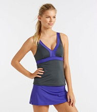 Women's L.L.Bean Active Swim Collection, V-Neck Tankini Top