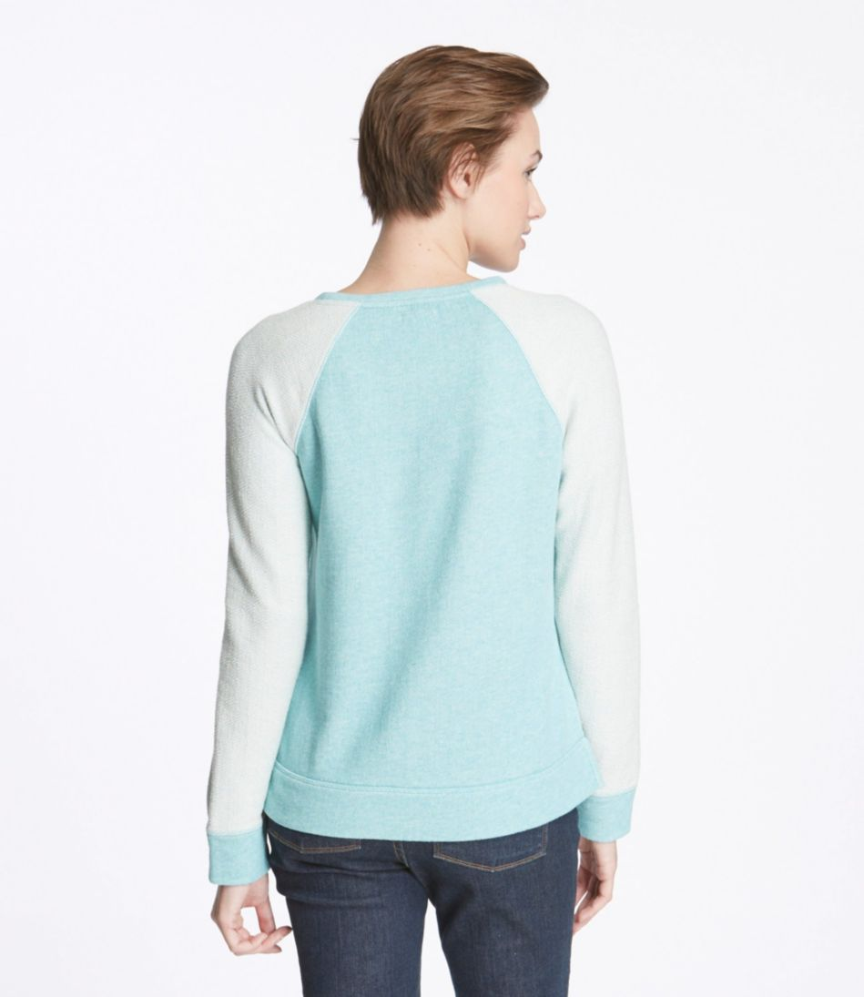 Diamond-Stitch Terry Top, Crewneck