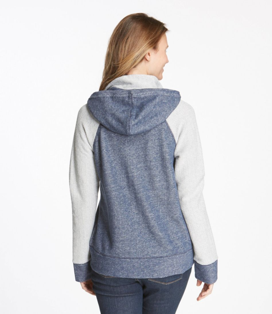 Diamond-Stitch Terry Top, Hoodie