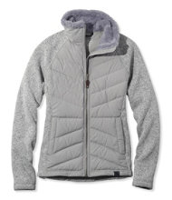 L.L.Bean Sweater Fleece Down Jacket