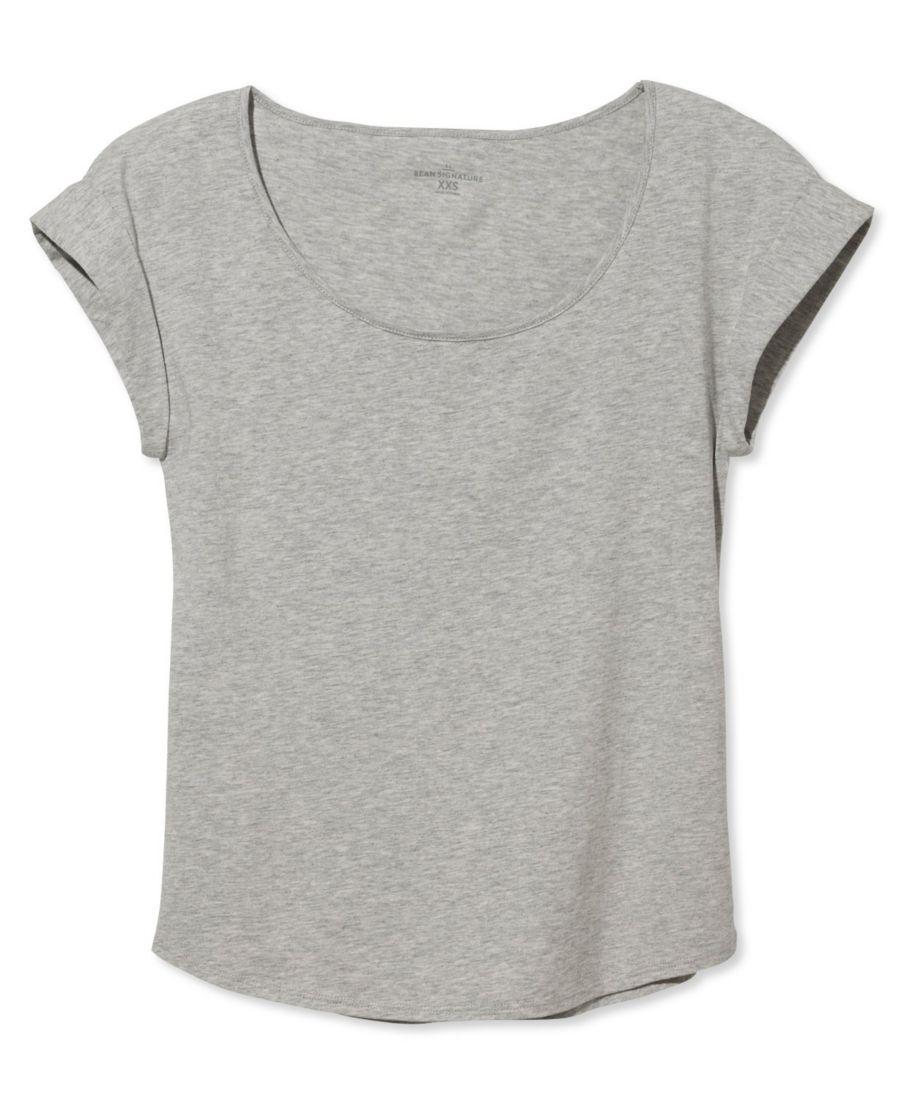 Signature Cotton/Modal Scoopneck, Short-Sleeve