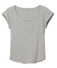 Signature Cotton/Modal Scoopneck, Short-Sleeve