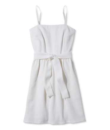 Signature Textured White Sundress