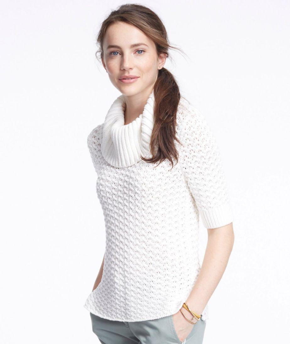 Signature Open-Stitch Sweater