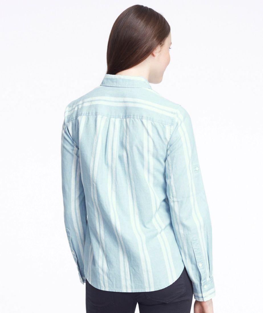 Signature Chambray Roll-Tab Shirt, Stripe