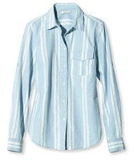 Signature Chambray Roll-Tab Shirt, Stripe