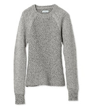 Women's Signature Heathered Mixed-Stitch Sweater, Crew