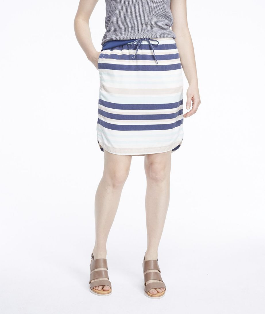 Signature Tencel Skirt, Stripe