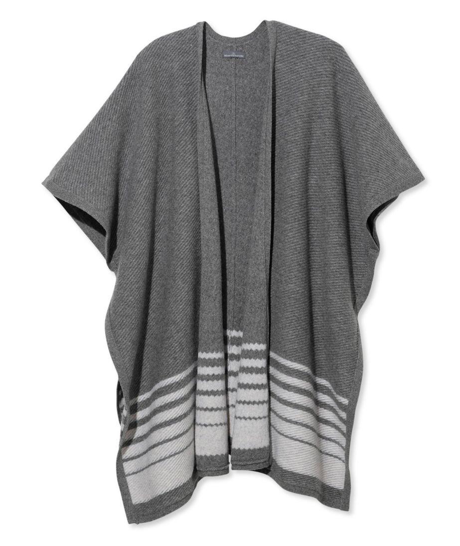Signature Striped Sweater Cape