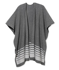 Signature Striped Sweater Cape