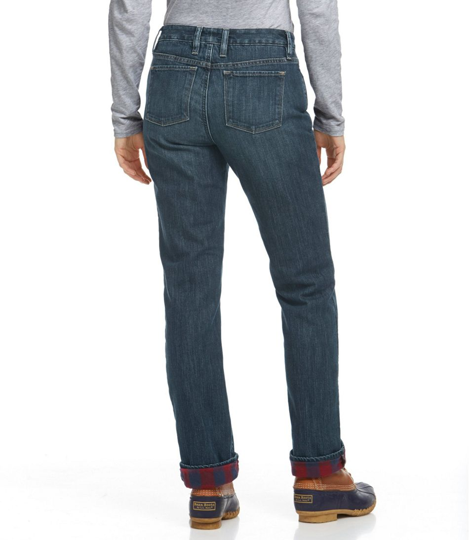 Women's L.L.Bean 1912 Jeans, Straight-Leg Lined