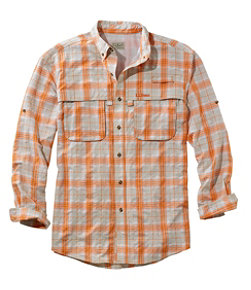 Men's Tropicwear Shirt, Plaid Long-Sleeve