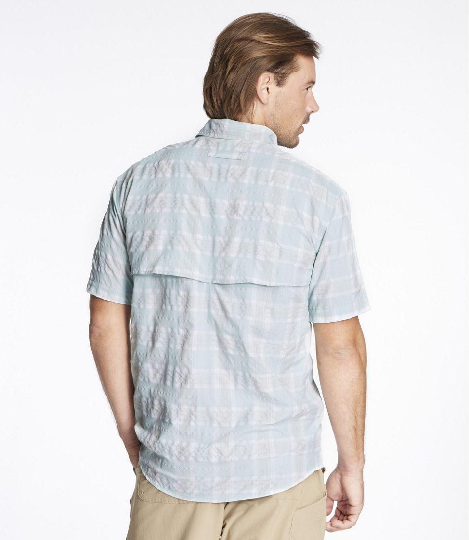 Men's Tropicwear Shirt, Plaid Short-Sleeve